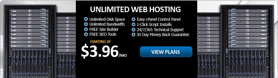 Web Hosting starting at $3.96 per month!